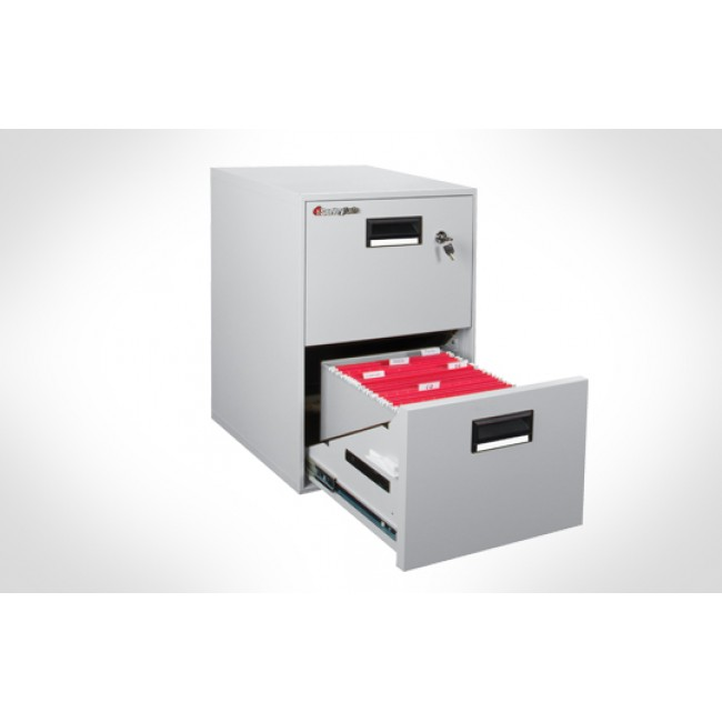 Sentry 2B2100 Fire/Water/Impact 2 Drawer Media-File Cabinet with ...