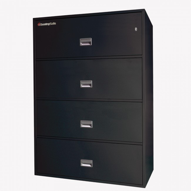 sentry 4l4300 4 drawer lateral file cabinet with fire rating free